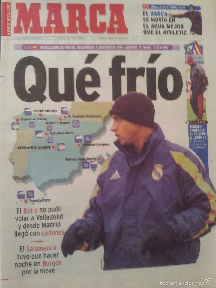 MARCA 10/ENERO/1999 PREVIA MALLORCA - REAL MADRID   ROBERTO CARLOS (Coleccionismo Deportivo - Revistas y Periódicos - Marca)