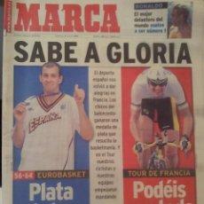 Coleccionismo deportivo: MARCA 4/JULIO/1999 EUROBASKET PATA Y TOUR DE FRANCIA OLANO. Lote 58016681