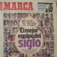 Coleccionismo deportivo: MARCA 18/JULIO/1999 EL MEJOR EQUIPO DEL SIGLO. Lote 58016695