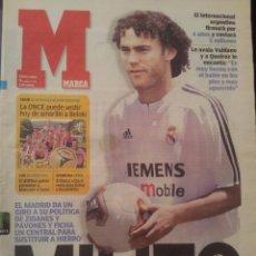 Coleccionismo deportivo: MARCA 9/JULIO/2003 GABRIEL MILITO VESTIDO DEL REAL MADRID. Lote 58017466