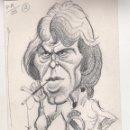 Coleccionismo deportivo: LEO BEENHAKER. REAL MADRID. CARICATURA ORIGINAL PARA DON BALON. GARCÍA LORENTE. 1986. Lote 58062197