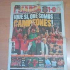 Coleccionismo deportivo: 12 DE JULIO 2010 ESPAÑA CAMPEON DEL MUNDIAL 2010 -VER FPOTOS. Lote 58082960