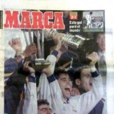 Coleccionismo deportivo: DIARIO MARCA REAL MADRID CAMPEON COPA INTERCONTINENTAL 1998 RAUL. Lote 58102213