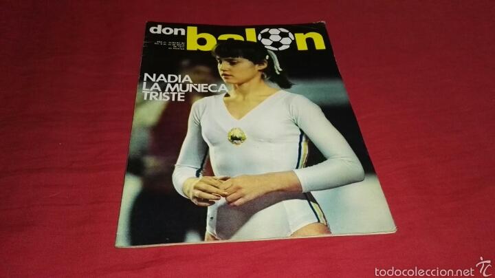 REVISTA DON BALON NUMERO 83 CON NADIA COMANECI EN PORTADA . 1977 (Coleccionismo Deportivo - Revistas y Periódicos - Don Balón)