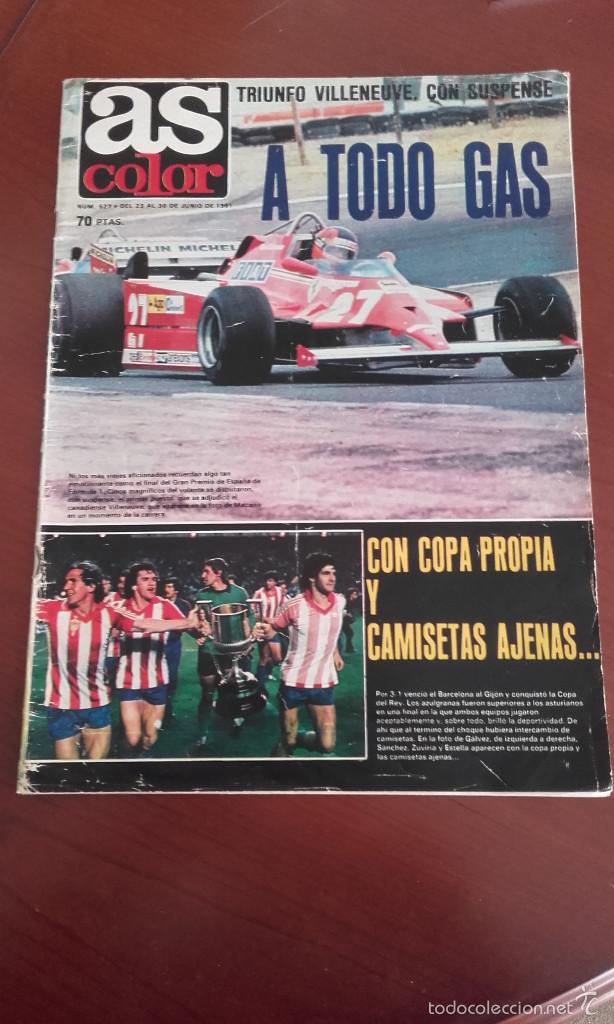 AS color 527 reportaje 4 pg Satrústegui Real Sociedad. 3 pg Barça campeón  Copa Rey Sporting de Gijón eb583256ab1bb