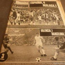 Coleccionismo deportivo: MUNDO DEPORTIVO(16-10-67)VALENCIA 1 BARÇA 2,ESPAÑOL 4 MÁLAGA 1,BILBAO 1 R.MADRID 2,MORERA(HANDBOL). Lote 58155230
