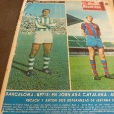 Coleccionismo deportivo: MUNDO DEPORTIVO(29-10-67)VELAZQUEZ(R.MADRID),MARIA ROSA RIUMBAU,BARÇA-BETIS.. Lote 58156066