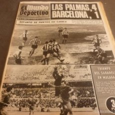 Coleccionismo deportivo: MUNDO DEPORTIVO(27-11-67)L.PALMAS 4 BARÇA 1!!!ESPAÑOL 0 BILBAO 0,BORDOY EX-GUARDAMETA DEL EUROPA.. Lote 58163094