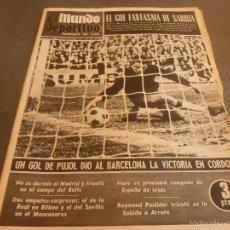 Coleccionismo deportivo: MUNDO DEPORTIVO(4-3-68)ESPAÑOL 1 ZARAGOZA 1,CÓRDOBA 0 BARÇA 1,SABADELL 1 PONTEVEDRA 0. Lote 58189189