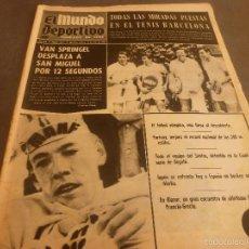 Collectionnisme sportif: MUNDO DEPORTIVO(19-7-68)ESPAÑA Y SU FUTBOL EN LAS OLIMPIADAS DE MEXICO-68,HOCKEY HIERBA ESPAÑA-JAPÓN. Lote 58190221