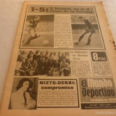 Coleccionismo deportivo: MUNDO DEPORTIVO(10-10-74)EN PARIS PARIS ST.GERMAIN/REIMS 1 BARÇA 5 !!2 GOLES CRUYFF !!PIRRI Y BENITO. Lote 58211419