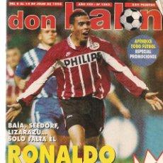 Coleccionismo deportivo: DON BALÓN. Nº 1082. RONALDO. DEL 8 AL 14 DE JULIO 1996.POSTER: ALEMANIA CAMPEÓN DE EUROPA´96. (Z37). Lote 58277132
