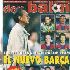 Coleccionismo deportivo: DON BALÓN. Nº 1072. EL NUEVO BARÇA. 5 MAYO 1996. POSTER: REAL ZARAGOZA. (Z37). Lote 58277352