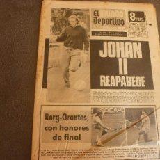 Coleccionismo deportivo: MUNDO DEPORTIVO(19-10-74)COPA LIBERTADORES INDEPENDIENTE VS SAO PAULO,MICHELS,LLOVERAS(ATLETA)BAYERN. Lote 58372778