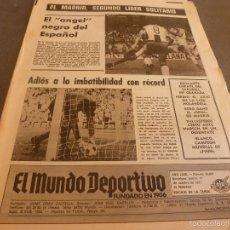 Coleccionismo deportivo: MUNDO DEPORTIVO(17-10-77)ESPAÑOL 2 RAYO 1 !!DEBUT URRUTI EN SARRIÁ !! TENIS CONDE GODÓ,BARÇA.. Lote 58441910