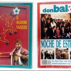 Coleccionismo deportivo: OCASION COLECCIONISTAS REVISTA DON BALON ! Nº 789 Y 791 1990 POSTER LA REAL SOCIEDAD. Lote 58485252