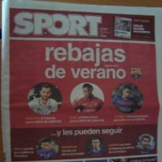 Coleccionismo deportivo: PERIODICO SPORT 2/8/2016 REBAJAS DE VERANO. Lote 58571285