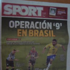 Coleccionismo deportivo: PERIODICO SPORT 30/7/2016 OPERACION 9 EN BRASIL. Lote 58571320
