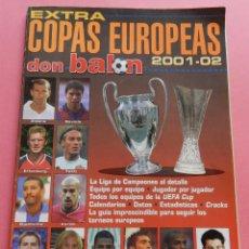 Coleccionismo deportivo: REVISTA EXTRA COPAS EUROPEAS 2001-2002 GUIA DON BALON CHAMPIONS LEAGUE UEFA 01/02 LIGA CAMPEONES. Lote 59130770