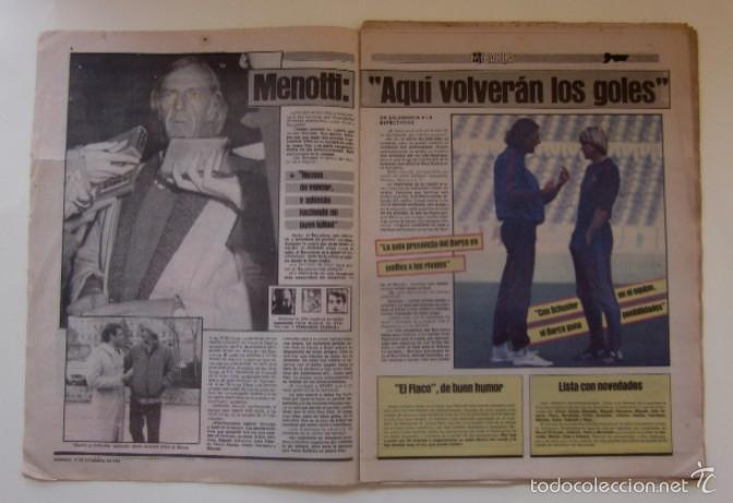 Coleccionismo deportivo: DIARIO SPORT DEL 11 DE DICIEMBRE DE 1983 - SCHUSTER Y QUINI - Foto 2 - 59490043
