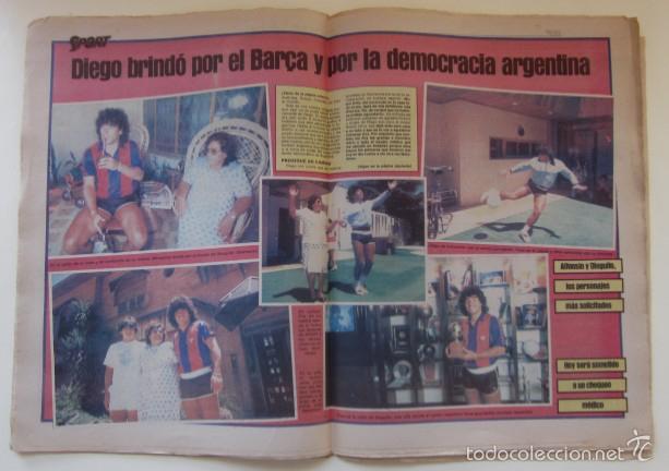 Coleccionismo deportivo: DIARIO SPORT DEL 11 DE DICIEMBRE DE 1983 - SCHUSTER Y QUINI - Foto 3 - 59490043