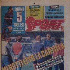 Coleccionismo deportivo: DIARIO SPORT DEL 13 DE OCTUBRE DE 1983 - MENOTTI. Lote 59493843