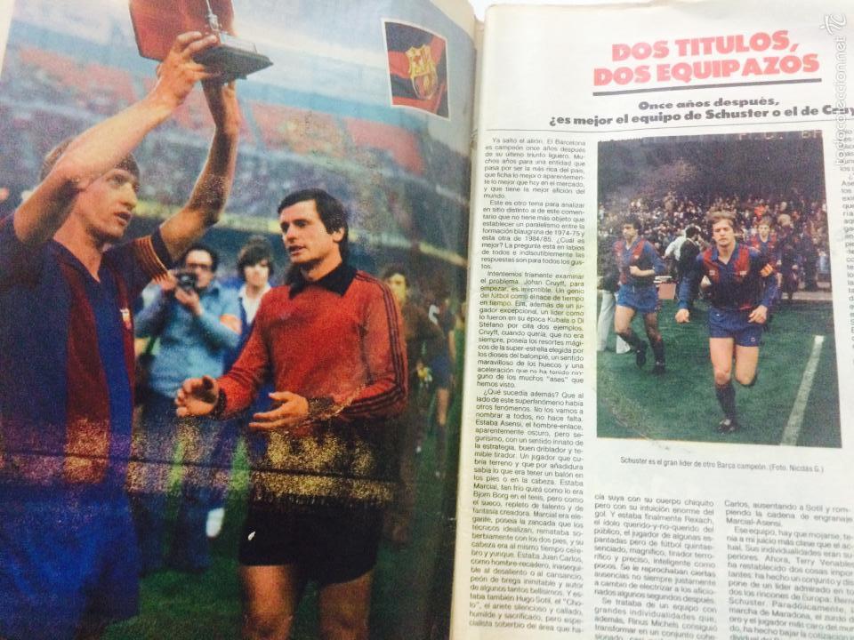 Coleccionismo deportivo: EL MUNDO DEPORTIVO 26 MARZO 1985, FC BARCELONA CAMPEON LIGA 1984-85 AQUEST ANY SI, CON POSTER. - Foto 2 - 59519163
