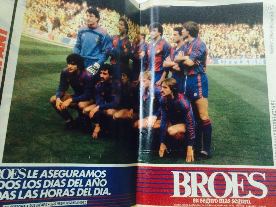 Coleccionismo deportivo: EL MUNDO DEPORTIVO 26 MARZO 1985, FC BARCELONA CAMPEON LIGA 1984-85 AQUEST ANY SI, CON POSTER. - Foto 3 - 59519163