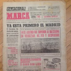 Coleccionismo deportivo: MARCA 3 FEBRERO 1964 METROPOLITANO ATLETICO MADRID 1-0 BARCELONA CORDOBA REAL MADRID BON LIEV ABRICK. Lote 59522055