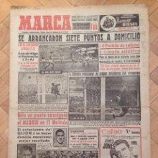 Coleccionismo deportivo: DIARIO MARCA 7 DICIEMBRE 1953 JAEN BILBAO VIGO VALENCIA ATLETICO EL MOLINON REAL MADRID PACHECO. Lote 59523859