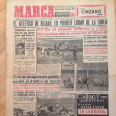 Coleccionismo deportivo: DIARIO MARCA 14 NOVIEMBRE 1955 ATHLETIC BILBAO ATLETICO OSASUNA MARQUITOS REAL MADRID BADENES. Lote 59531599