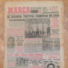 Coleccionismo deportivo: DIARIO MARCA 5 ABRIL 1954 EL REAL MADRID VIRTUAL CAMPEON DE LIGA GIJON ALONSO MEDINA OLSEN ZARRAGA. Lote 59705979