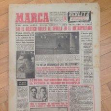 Coleccionismo deportivo: DIARIO MARCA 13 OCTUBRE 1958 METROPOLITANO ATLETICO 5-0 SEVILLA HELIOPOLIS REAL BETIS ISIDRO MADRID. Lote 59714691
