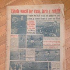 Coleccionismo deportivo: DIARIO MARCA 3 ABRIL 1950 ESPAÑA 5-1 PORTUGAL CHAMARTIN RIERA ZARRA MOLOWNY BASORA PANIZO. Lote 59723815