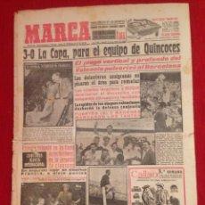 Coleccionismo deportivo: DIARIO MARCA 21 JUNIO 1954 FINAL COPA GENERALISIMO CAMPEON VALENCIA 3-0 BARCELONA QUINCOCES. Lote 59723939