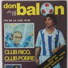 Coleccionismo deportivo: REVISTA DON BALON Nº 241 DEL 20 AL 26 DE MAYO 1980 PLANTILLA R.SOCIEDAD . Lote 60016759