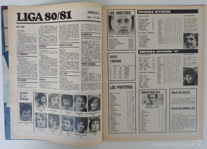 Coleccionismo deportivo: REVISTA DON BALON Nº 264 DEL 28 OCTUBRE AL 3 NOVIEMBRE 1980 POSTER DE SCHUSTER - Foto 3 - 60024351