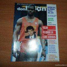 Coleccionismo deportivo: DON BALON Nº 677 1988 COLOR REAL MADRID CAMPEON SUPERCOPA VS BARCELONA PSOTER MALAGA. Lote 60113279
