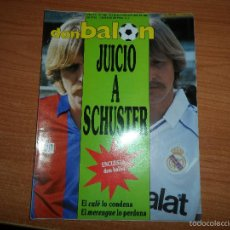 Coleccionismo deportivo: DON BALON Nº 680 1988 COLOR SCHUSTER REAL MADRID SELECCION ESPAÑOLA ESPAÑA LIGA ITALIA POSTER ELCHE. Lote 60194103