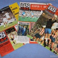 Coleccionismo deportivo: LOTE AS COLOR 1973 - NÚMEROS 106, 107 Y 125 - CON PÓSTERS 102 ATL. MADRID, 103 RAYO V. Y 121 ELCHE . Lote 60375791