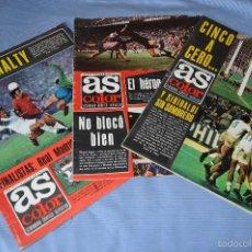 Coleccionismo deportivo: LOTE AS COLOR 1975 - NÚM. 213, 214 Y 215 - CON PÓSTERS 209 OVIEDO, 210 SANTANDER Y 211 LUIS OCAÑA . Lote 60406979