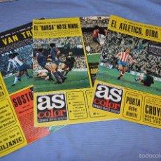 Coleccionismo deportivo: LOTE AS COLOR 1976 - NÚM. 248, 249 Y 250 - CON PÓSTERS 243 GIJÓN, 244 LA CORUÑA Y 245 CALVO SOTELO . Lote 60417559