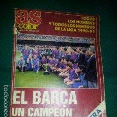 Coleccionismo deportivo: REVISTA AS COLOR EXTRA - 1991 - CON LAS FOTOS DE LAS PLANTILLAS DE TODOS LOS EQUIPOS DE LA LIGA. Lote 60502571
