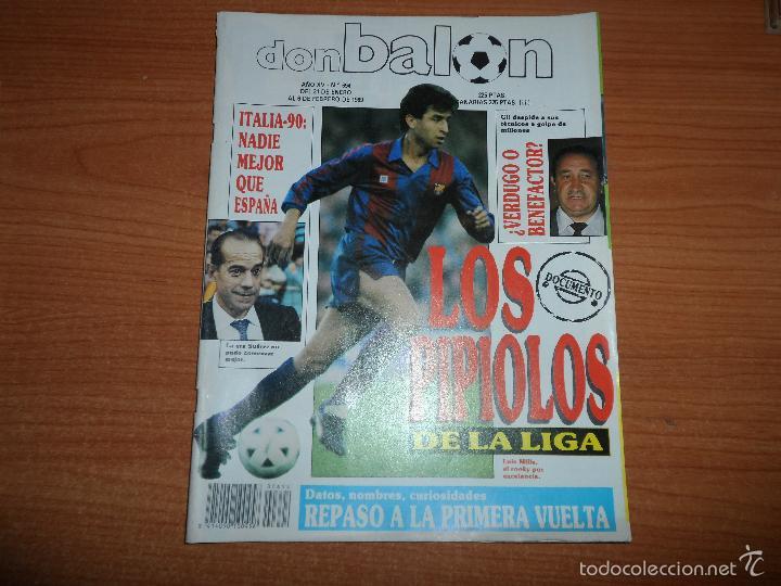 DON BALON Nº 694 1989 COLOR ESPAÑA SELECCION ESPAÑOLA MILLA BARCELONA POSTER GORDILLO REAL MADRID (Coleccionismo Deportivo - Revistas y Periódicos - Don Balón)