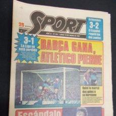 Colecionismo desportivo: SPORT - Nº 421 - 19 ENERO 1981 - ESCANDALO CRUYFF FLIRTEA CON EL ESPAÑOL Y HACE PROMESAS AL LEVANTE. Lote 60914879