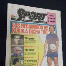 Colecionismo desportivo: SPORT - Nº 351 - 7 NOVIEMBRE 1980 - LOS RECAMBIOS DE KUBALA DICEN NO. Lote 60917011