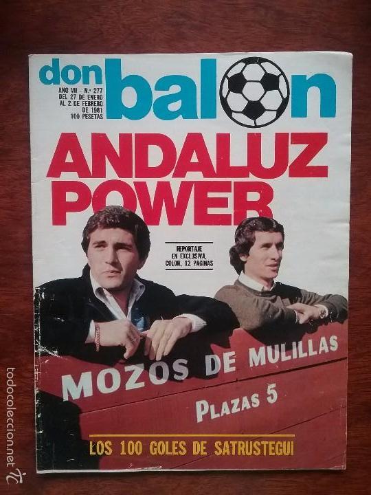 Coleccionismo deportivo: DON BALÓN NÚMERO 277.AÑO 1979.GORDILLO. SEVILLA BETIS - Foto 2 - 61277803