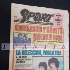 Collezionismo sportivo: SPORT Nº 451 - 18 FEBRERO 1981 - CARRASCO Y CANITO QUIEREN IRSE - . Lote 61408263