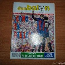 Coleccionismo deportivo: DON BALON Nº 708 1989 COLOR ZAMORA POSTER ARCONADA REAL SOCIEDAD - FINAL BARCELONA EN BASILEA . Lote 61510207
