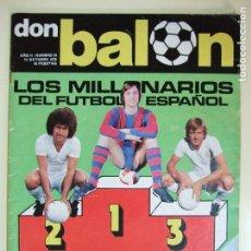 Colecionismo desportivo: REVISTA DON BALÓN Nº 54 AÑO 1976 - MILLONARIOS DEL FÚTBOL ESPAÑOL - CRUYFF , BREITNER , NEESKENS . Lote 61678456